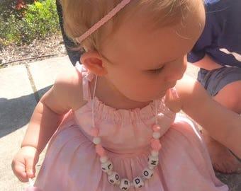 Pink Baby Headband, Braided Headband, Toddler Headband, Boho Headband, Boho Baby Headband, Baby Headband, Hippie Baby, Baby Girl Headband