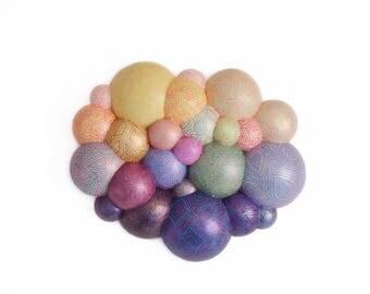 Nucleus, sculpture,  3D art, ball art, pattern art, visual art,home decor, stand out