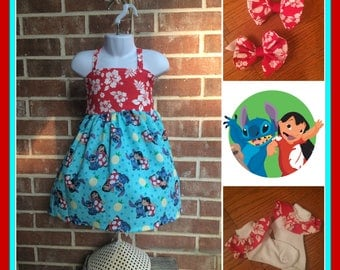 Lilo and Stitch Birthday, Lilo and Stitch party, Lilo and Stitch dress, Lilo and Stitch outfit