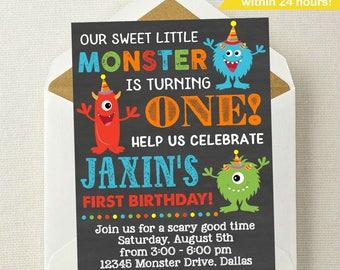 Little Monster Birthday Invitation / Monster Invitation / Monster Birthday Invitation / Monster Birthday Party / Monster Birthday