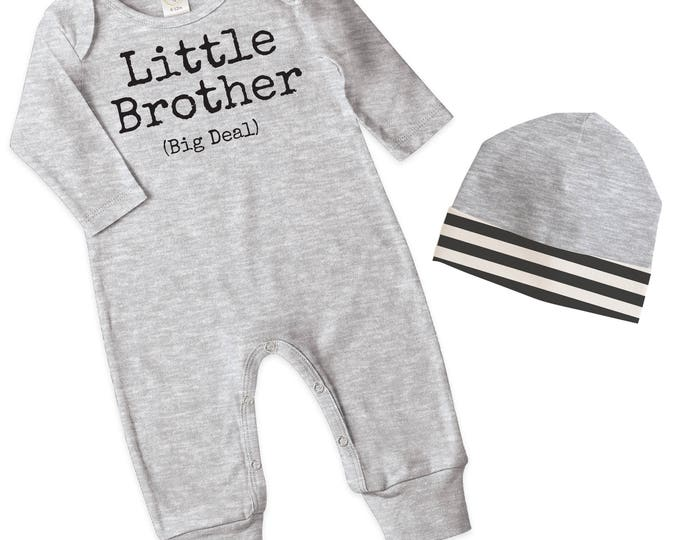 Newborn Boy Coming Home Outfit, Baby Boy Romper Outfit, Baby Boy Coming Home Outfit, Little Brother Outfit Minimalist TesaBabe RC81HG63HGIBS