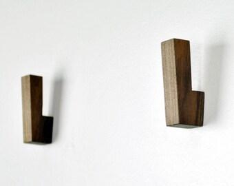 Wooden Wall Hooks / Wooden Coat Hooks / Wall Hooks Modern / Wall Hook Minimalist / Wall Hooks Decor / Wall Pegs / Coat Hooks / Hook Entryway