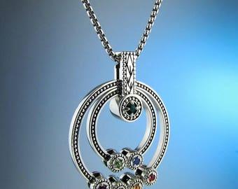 Grandmother Birthstone Necklace, Children's Birthstone Necklace, Family Jewelry, Mother Ring, Custom Made