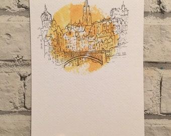 Edinburgh Skyline Print ++ Edinburgh from Calton Hill, Edinburgh Print, Scotland Print, Edinburgh Artwork, Edinburgh Skyline