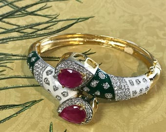 Open able Ruby bangle bracelet. Size 2.6