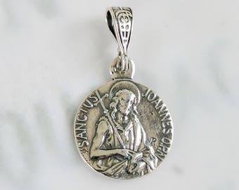 Medal - St John the Baptist - Sterling Silver - 14.5mm