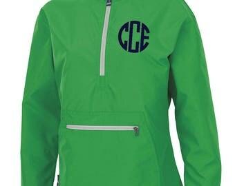 Monogram Light Weight Pullover. Monogrammed Rain Jacket. Charles River Pack-N-Go Pullover. Personalized Pullover Raincoat Monogram Pullover