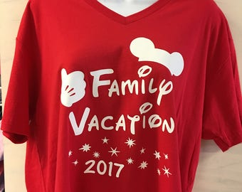 Disney Vacation Shirts - 2017 Disney Shirts - Family Vacation 2017 V Neck Shirts