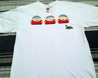 "Rare Vintage 1998 South Park Cartman T-Shirt - Size Large - Measures 22"" Pit to Pit - Comedy Central - Made by Cotton Park"