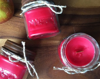 Peppermint Bark Candle 10 oz Coconut Soy Wax Candle Cotton Wick Candle Vegan Candle Holiday Candle
