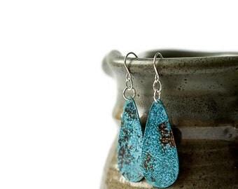 Mismatched Earrings - Copper Earrings - Teardrop Earrings - antiqued copper earrings - dangle earrings - drop earrings - copper jewelry