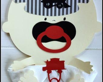 Choo Choo Baby Shower Napkins All Aboard Train Conductor Baby Shower Decor Baby Shower Gifts Baby Shower Favors Baby Train Napkins