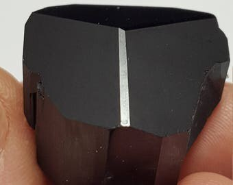 Lustrous Black Tourmaline, Erongo Namibia... Terminated Crystals with Smooth Mirrored Surface- 24 Grams
