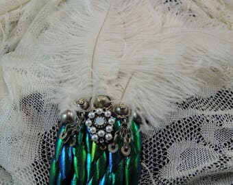 Antique Gems Fascinator Hair Clip