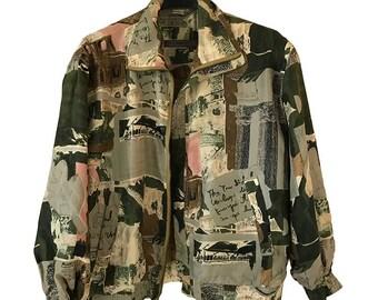 Bomber Silk Jacket 80s  ON SALE