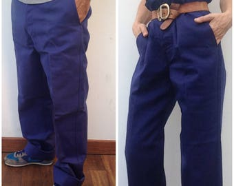 French workwear | Vintage | 1950s | Blue work pants | Beaudeux Industrie | Cotton | Indigo | Sanforized | Deadstock