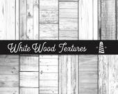 White Wood Textures, Pale Wood Digital Paper, Wood Textured Paper, White Texture Pack, Rustic White Wood, Commercial Use, BUY12FOR15