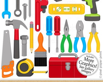 Tools clipart - Digital Clip Art  - Personal and commercial use