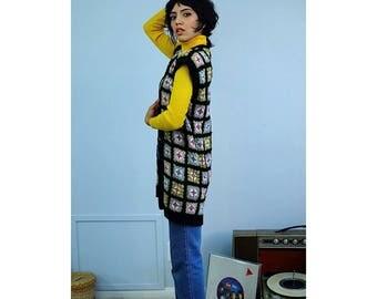 60's Crochet Grandma Sweater Vest
