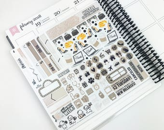 Hustle // Ultimate Weekly Planner Kit (280+ Planner Stickers)