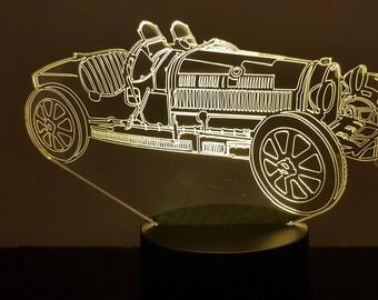 Lamp 3D pattern: Bugatti