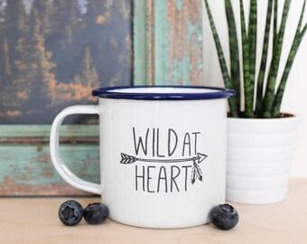 Adventure Enamel Mug • Outdoors, wild at heart, wanderlust, vanlife, home gifts, drink, travel, hiking, Birthday, Valentines girlfriend wife