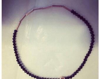 925 silver bracelet with onyx gemstones, soft, finejewelry-boho yoga style