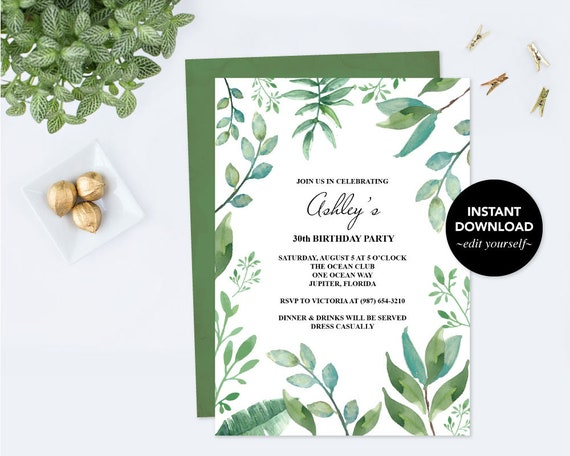 Birthday Invitation For Her Edit Now Invite PDF Template
