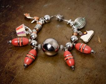 Kooky Vintage Style Charm Bracelet