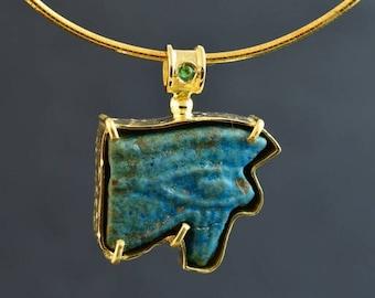 Pendant with Antique Amulet . Egypt 654-525 B.C.