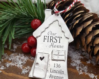 First Home Christmas Ornament   Our First Home Ornament   First Home Gift   Housewarming Gift   House Closing Gift   Christmas New House