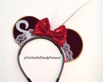 Peter Pan Captain Hook Inspired Mouse Ears Headband
