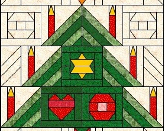Für Anfänger. Weihnachtsbaum  - 1995  Serie-MINIPATCH CLASSIC, 30 x 37,5 cm