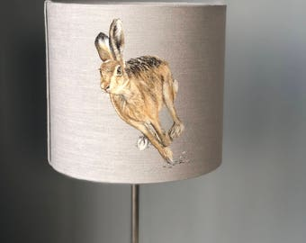 running hare 30cm diameter lampshade