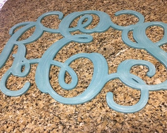 Custom Designed PAINTED Wood Monogram Initials 24 x 36