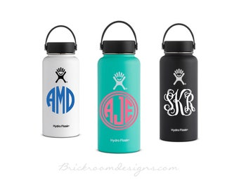Hydro Flask Monogram Decal || Vinyl Monogram Decal, Vinyl Monogram Decal, Yeti Monogram Decal, Monogram Decal For Yeti Cup, Monogram Decal
