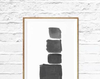 Black Art,Scandinavian Modern ,Scandi Print Set, Printable Wall Decor, Minimalist Home Decor, Black Wall Decor, Modern Printable Art,
