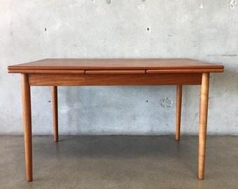 Danish Modern Teak Dining Table by Verner Pedersen  (Y32YP2)
