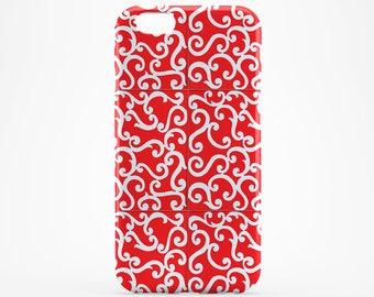 Red iPhone 8 Case iPhone X Case iPhone 6 Plus Red Pattern Phone Case iPhone 7/8 Case iPhone 6S Case iPhone 8 Plus iPhone SE Case Galaxy S8