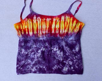 Tie Dyed Sunset Babydoll Tank