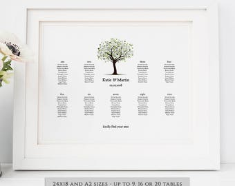 wedding seating chart printable wedding seating chart poster, Powerpoint templates