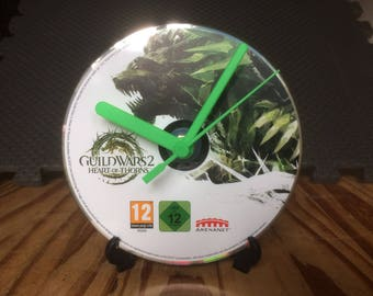 Guild Wars 2 Heart of Thorns - CD Game Disc Clock - MMO PC Gaming Clock Gift