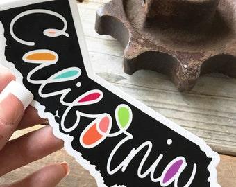 CALIFORNIA Sticker, Vinyl Decal, laptop sticker, car decal, laminate, bumper sticker, zentangle