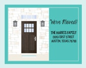 We've Moved! Postcard, Change of Address, Printed Invitation, I've Moved,Moving Card, Moving announcement