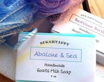 Goat Milk Soap, Body Bar Soap, Abalone Sea Soap, Goat Soap, Bath Soap, Moisturizing Soap, Creamy Lather Soap