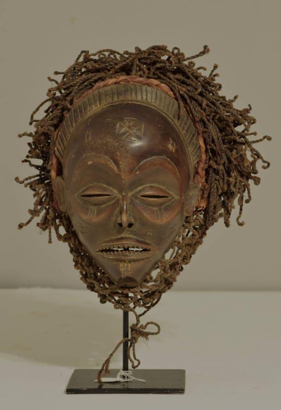 Mask African Chokwe Female Angola Handmade Fertility Prosperity Chowke Mask