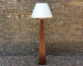 Midcentury 1960s teak obelisk standard lamp teak lamp retro Art Deco style light obelisk lamp Midcentury teak light Art Deco design lamp