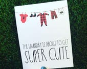 Cute Baby Shower Card - Lumberjack Baby Card - Card for Baby Shower - funny baby card - congratulations pregnancy card - plaid baby card