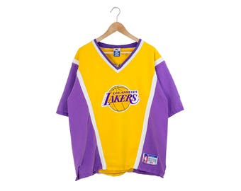 fc3f4c59582 ... Practice Shorts 90s LAKERS CHAMPION SHIRT shooting shirt los angeles  lakers jersey vneck nba ...