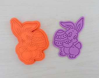 Easter Bunny Cookie Cutter and Stamp Set 100